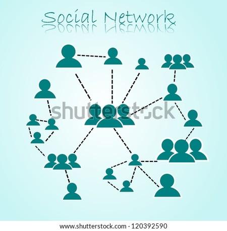 Social Network illustration - stock photo