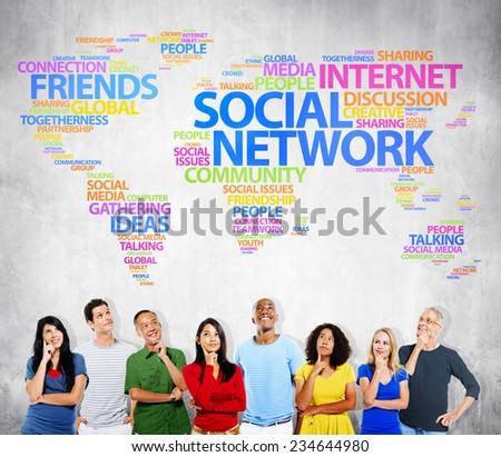Social Network Internet Friends Ideas Talking Media Community Concept