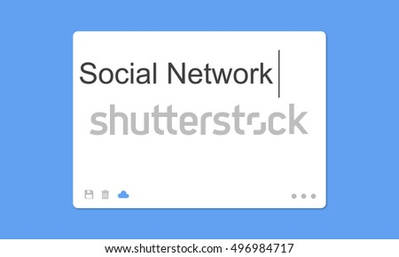 Social Network SMS Window Communication Concept