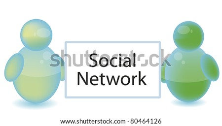 Social networking concept isolated on white - stock photo