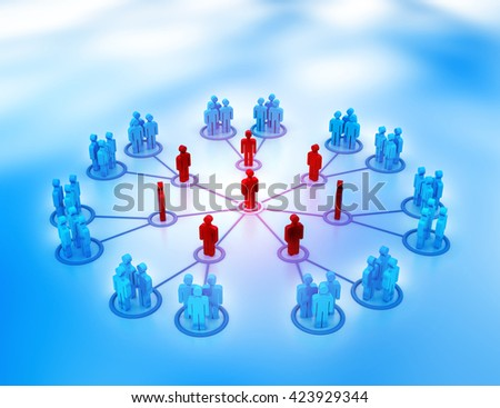 Social networking. 3d render - stock photo
