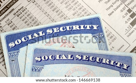 Social Security and retirement income concept of financial planning and its future - stock photo