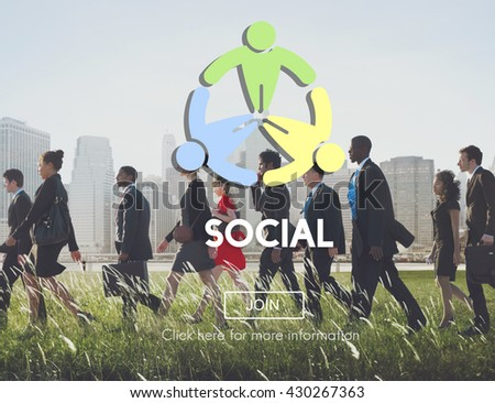 Social Socialize Society Unity Community Global Concept