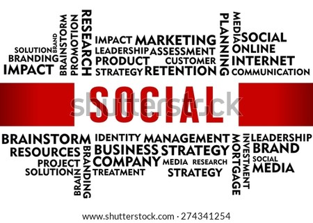 SOCIAL word with business concept