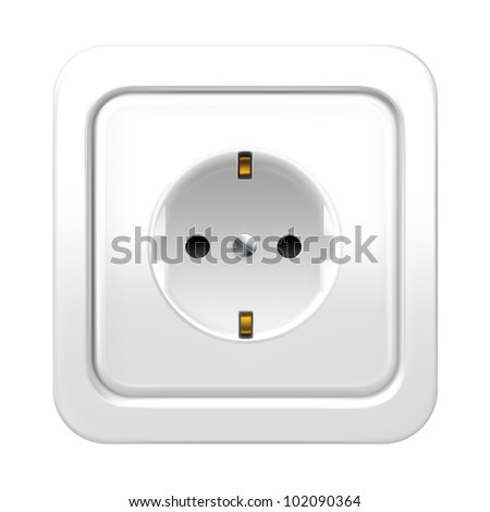 Socket, bitmap copy - stock photo