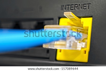 Socket for Internet connection  - stock photo