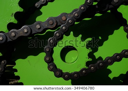 Socket,gears, machinery parts. - stock photo