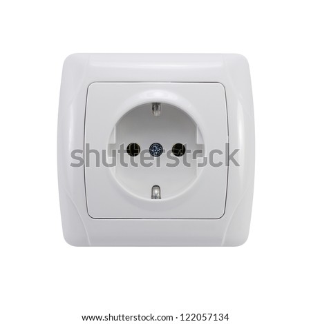 Socket isolated with clipping path