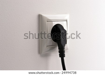 socket with black fork side view