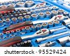 Socket wrench toolbox - stock photo