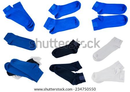 socks on white background - stock photo