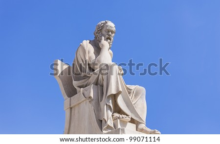 Socrates, Academy of Athens,Greece - stock photo