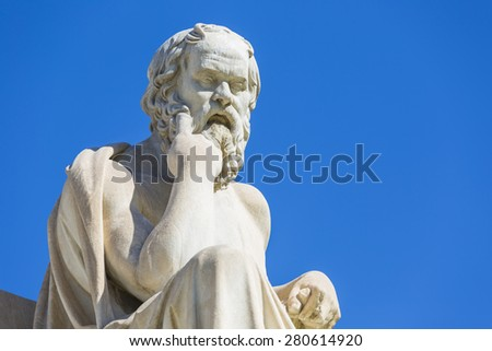 Socrates,ancient greek philosopher  - stock photo