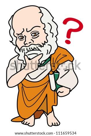 Socrates - Think - stock photo