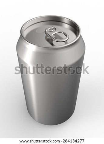 soda can isolated  on a white back ground.