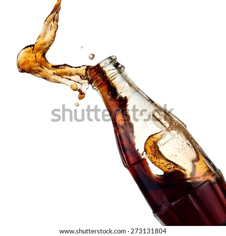Soda water up from a bottle - stock photo