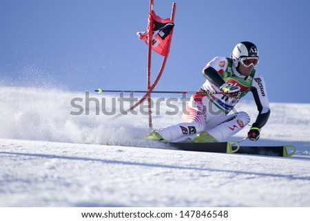 SOELDEN AUSTRIA OCT 26, Mario Matt AUT  competing in the mens giant slalom race at the Rettenbach Glacier Soelden Austria, the opening race of the 2008/09 Audi FIS Alpine Ski World Cup