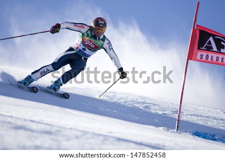 SOELDEN AUSTRIA OCT 26, Massimiliano BLARDONE ITA  competing in the mens giant slalom race at the Rettenbach Glacier Soelden Austria, the opening race of the 2008/09 Audi FIS Alpine Ski World Cup
