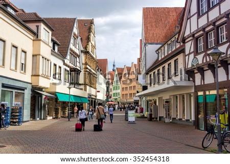 Soest city center - stock photo
