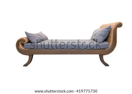 sofa furniture isolated on white background - stock photo