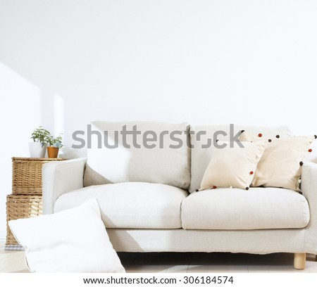 sofa interior - stock photo