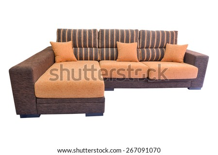 sofa isolated on a white background - stock photo