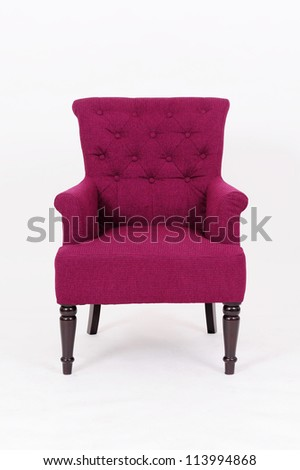 sofa isolated on white background - stock photo