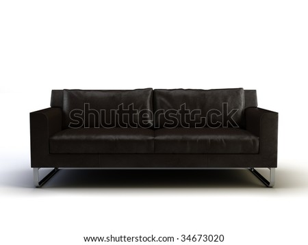sofa on the white background