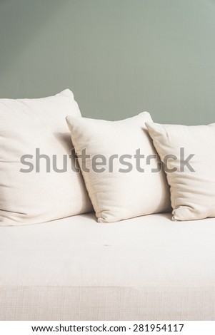 Sofa pillow - soft vintage filter