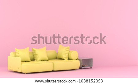 Sofa Pillow Pink Modern Living Room Stock Illustration 1038152053 ...