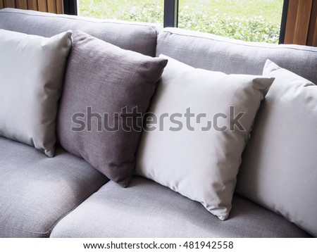 Sofa with pillows Home Interior decoration