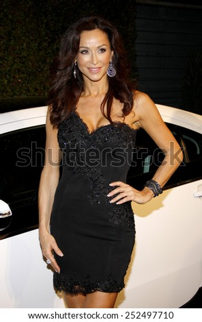 Sofia Milos at the Global Green USA's 9th Annual Pre-Oscar Party held at the Avalon Hollywood, California, United States on February 22, 2012.  - stock photo