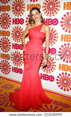 Sofia Vergara at the HBO's 2011 Emmy After Party held at the Pacific Design Center in West Hollywood, California, United States on September 18, 2011.  - stock photo