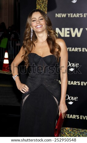 "Sofia Vergara at the Los Angeles Premiere of ""New Year's Eve"" held at the Grauman's Chinese Theater in Los Angeles, California, United States on December 5, 2011.  - stock photo"