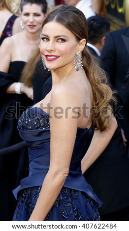 Sofia Vergara at the 88th Annual Academy Awards held at the Dolby Theatre in Hollywood, USA on February 28, 2016. - stock photo