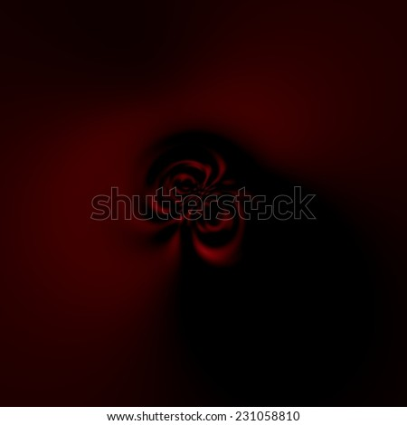 Soft Abstract Background for Design Artworks - Dark Eerie Spooky Element - Artistic Surreal Magnetic Field - Atypical Fractal Artwork - Mysterious Creepy Shadow Effect - Faint Dim Light - Wormhole - stock photo
