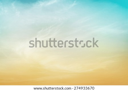 Soft and colorful sunset sky. - stock photo