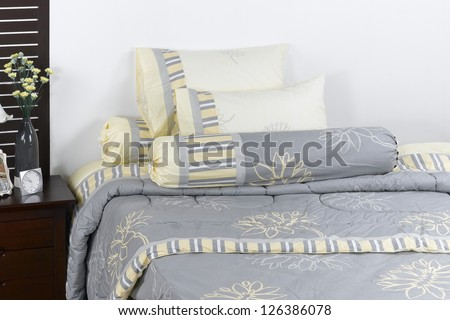 Soft and cozy blanket set in a nice interior bedroom