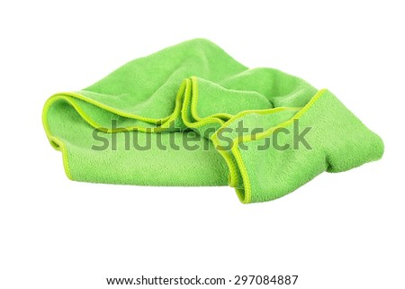 Soft and fluffy cotton towels on white