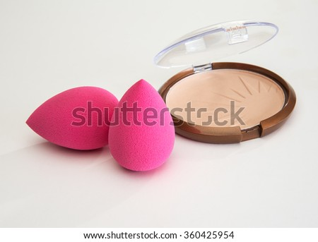 Soft and shapely new style make up  aplicator spnges - stock photo