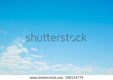 Soft background of  daytime sky - stock photo