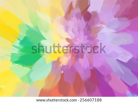 Soft blossom brush strokes background. Raster version - stock photo