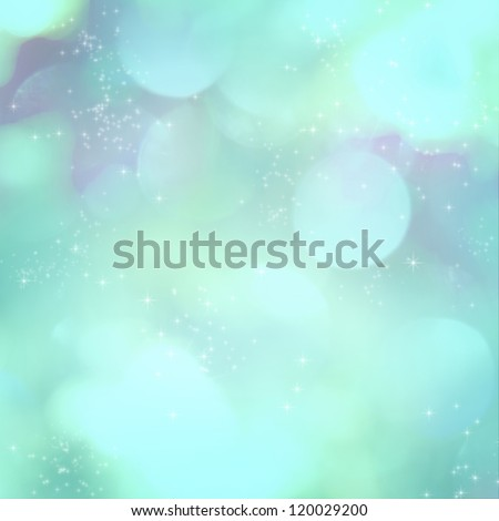 Soft blue light abstract background with sparkling white stars.
