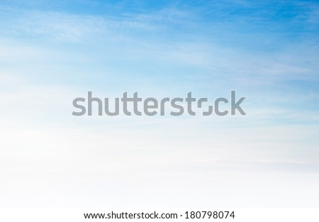 Soft blue sky - stock photo