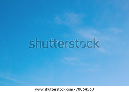 Soft blue sky background - stock photo