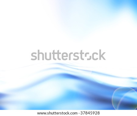 Soft blue waves on a white background
