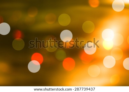 Soft blurred bokeh Yellow background.