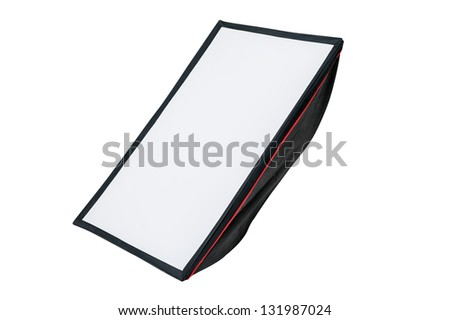 soft-box on white background