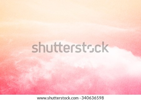 soft cloud and sky on gradient color , nature abstract background - stock photo