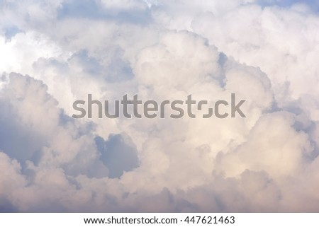 Soft cloud background.